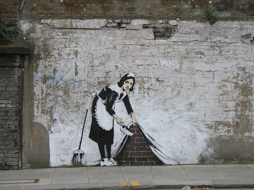 Under the carpet by Banksy
