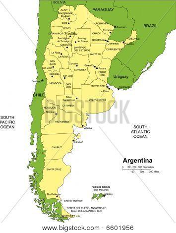 Argentina Administrative Map