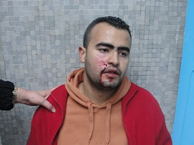 police violence during demonstration in Tunis