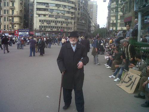 at Tahrir square